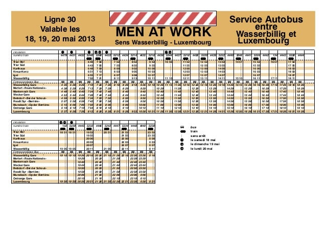 Busfahrplan / Baustelle Bahnlinie Luxemburg-Wasserbillig:  Slide 2