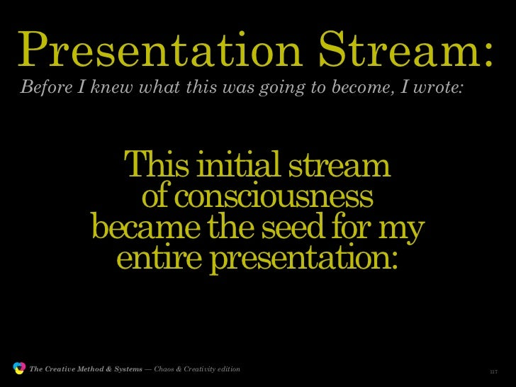 Presentation Stream:         Before I knew what this was going to become, I wrote:                                      Th...