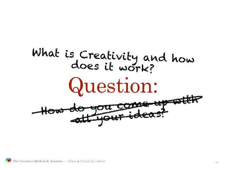W hat is Creativity a                                                nd how                                  does it work?...