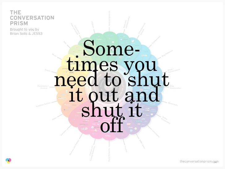 Some-                 times you                need to shut                 it out and                   shut it          ...
