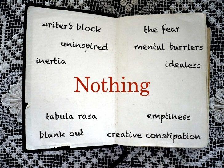 writer's b                                             lock                                    the fear                   ...