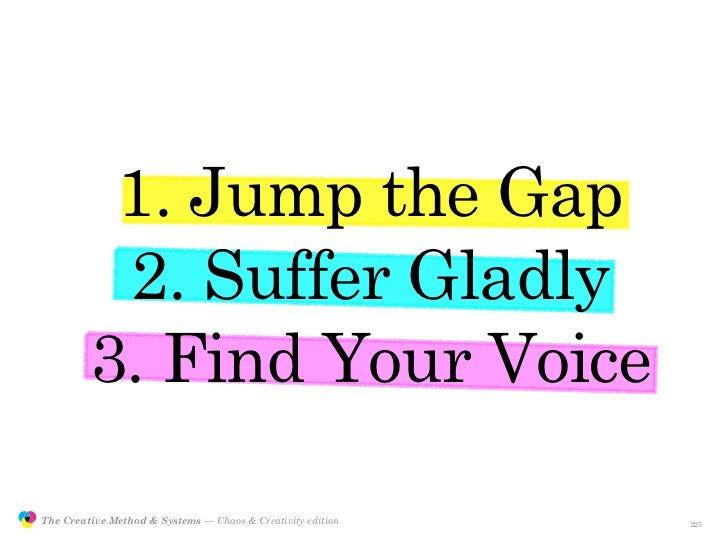 1. Jump the Gap                          2. Suffer Gladly                         3. Find Your Voice                 The C...