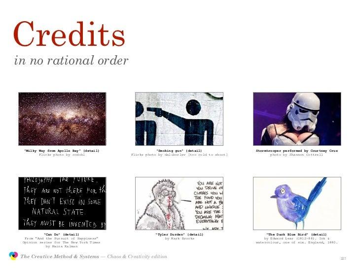 "Credits         in no rational order                     ""Milky Way from Apollo Bay"" (detail)                  ""Smoking gu..."