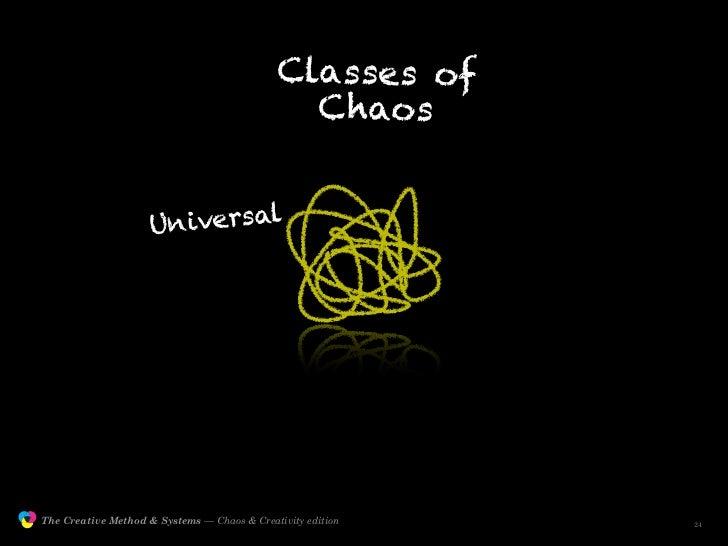 Classes of                                                               C haos                                       Univ...