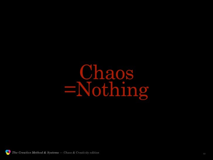 Chaos                                                  =Nothing                 The Creative Method & Systems — Chaos & Cr...