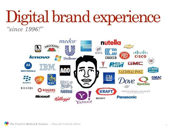 "Digital brand experience         ""since 1996!""                    The Creative Method & Systems — Chaos & Creativity editi..."