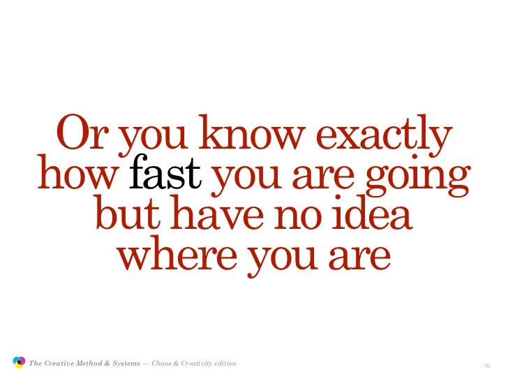 Or you know exactly                  how fast you are going                    but have no idea                      where...