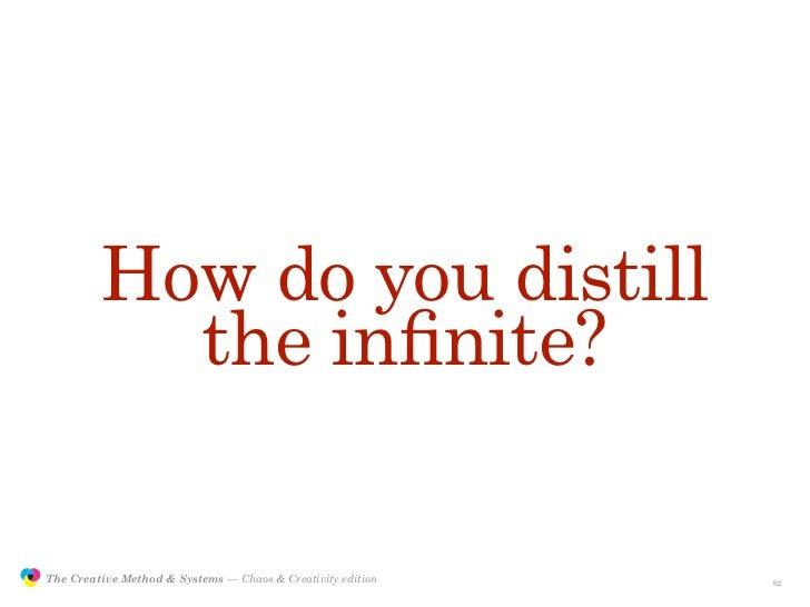 How do you distill                           the infinite?                 The Creative Method & Systems — Chaos & Creativi...