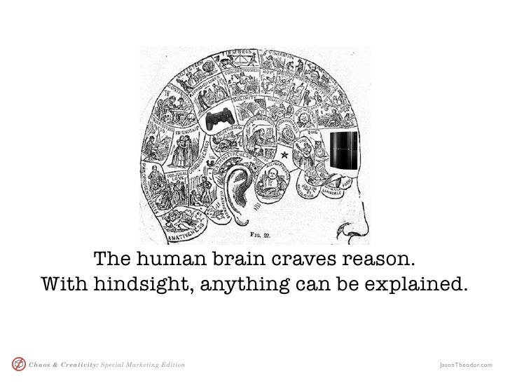 The human brain craves reason.    With hindsight, anything can be explained.   Chaos & Creativity: Special Marketing Editi...