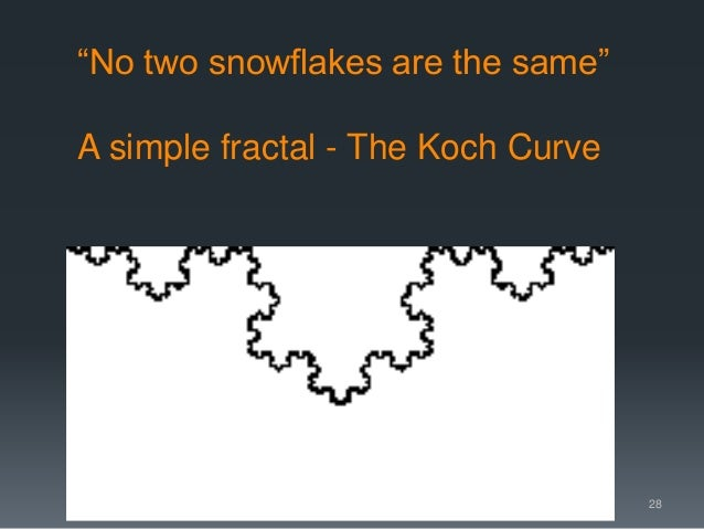 """""""No two snowflakes are the same"""" A simple fractal - The Koch Curve 28"""