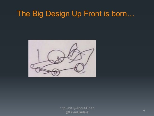 The Big Design Up Front is born… http://bit.ly/About-Brian @BrianUkulele 6