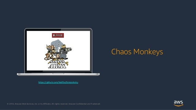 © 2018, Amazon Web Services, Inc. or its Affiliates. All rights reserved. Amazon Confidential and Trademark Chaos Monkeys ...