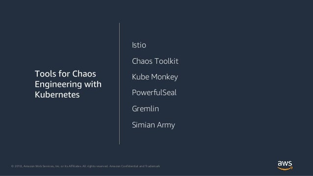 © 2018, Amazon Web Services, Inc. or its Affiliates. All rights reserved. Amazon Confidential and Trademark Istio Chaos To...