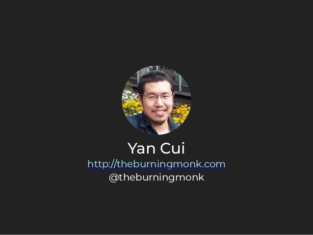 Yan Cui http://theburningmonk.com @theburningmonk