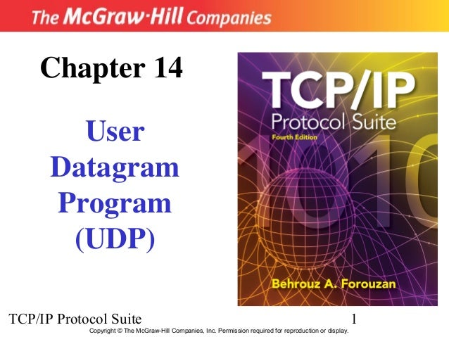 Chapter 14        User      Datagram      Program       (UDP)TCP/IP Protocol Suite                                        ...