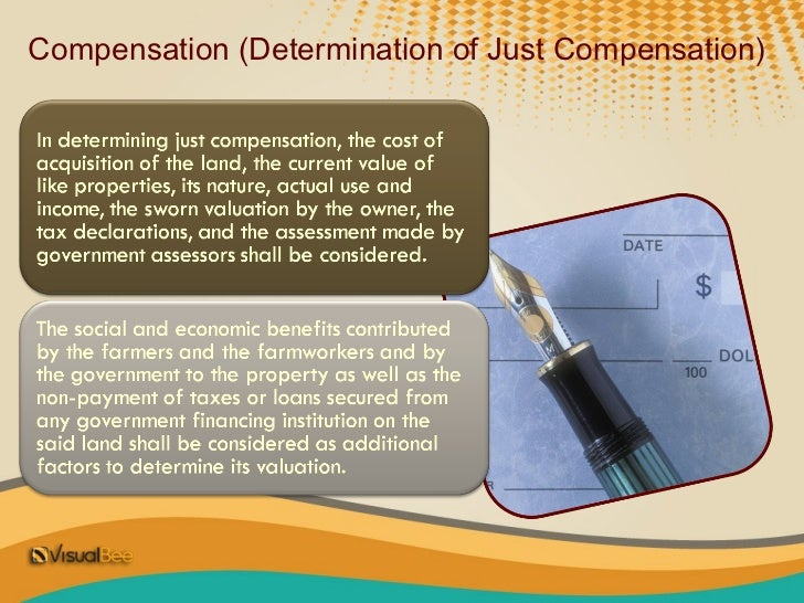 Valuation and Mode of Compensationo The compensation shall be paid in one of the following modes, at the option  of the la...
