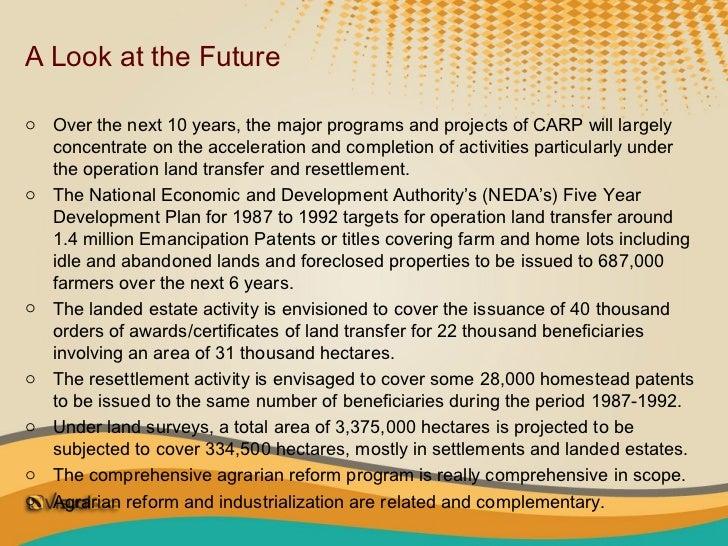 Chap. 14. comprehensive agrarian reform program
