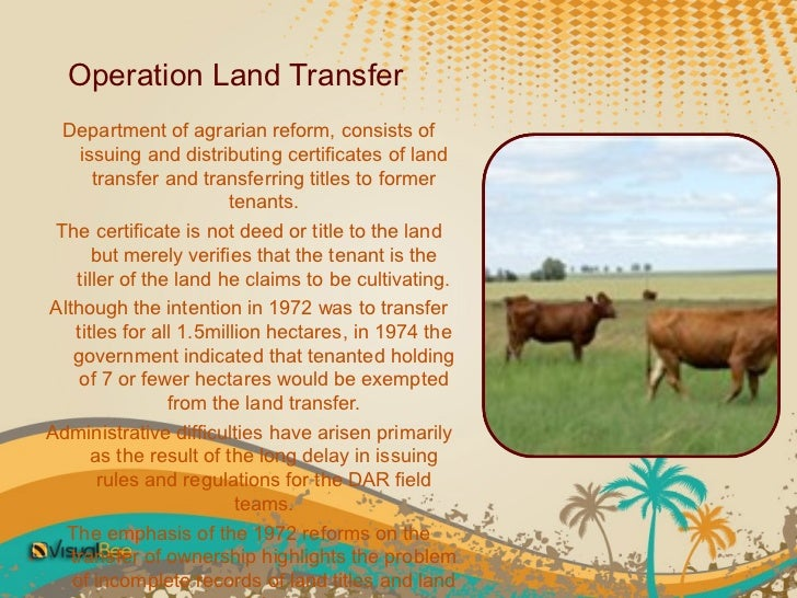 comprehensive agrarian reform Comprehensive agrarian reform program latest opinion agrarian reform 30  years after mendiola massacre january 27, 2017 latest opinion.