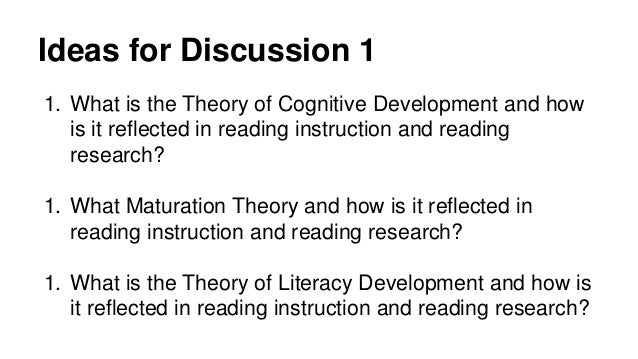 two theories of literacy development Applying piaget's theory of cognitive development to  two cats, three pigs, four hippos)  to the development of their reading skills and.