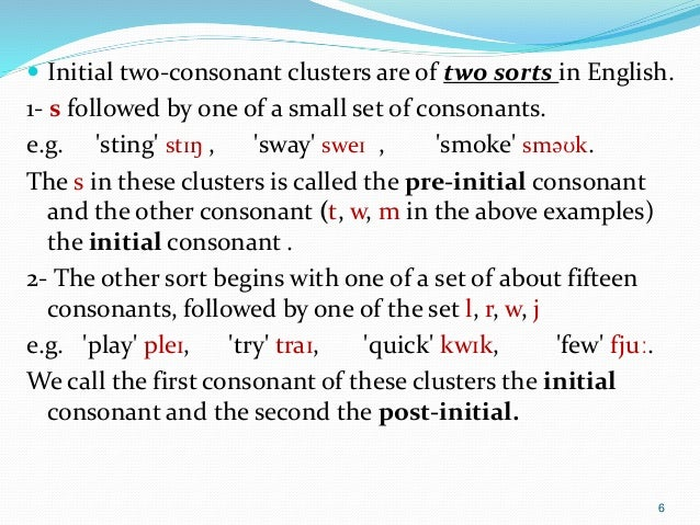 syllable consonant clusters Consonant blends - combination of two or more consonants in a word that follow each other digraph - two letters that make one sound ccssela-literacyrf12b first grade lesson plan students will review prior knowledge of single-syllable words with consonant blends students will apply knowledge by.
