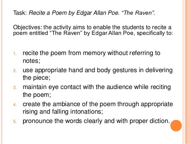 An analysis of the use of rhyme in the poem the raven by edgar allan poe