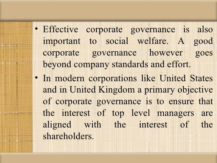 importance of solid corporate governance The importance of corporate law: some thoughts on developing equity markets in developing economies corporate governance and economic development.
