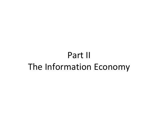 Part II The Information Economy