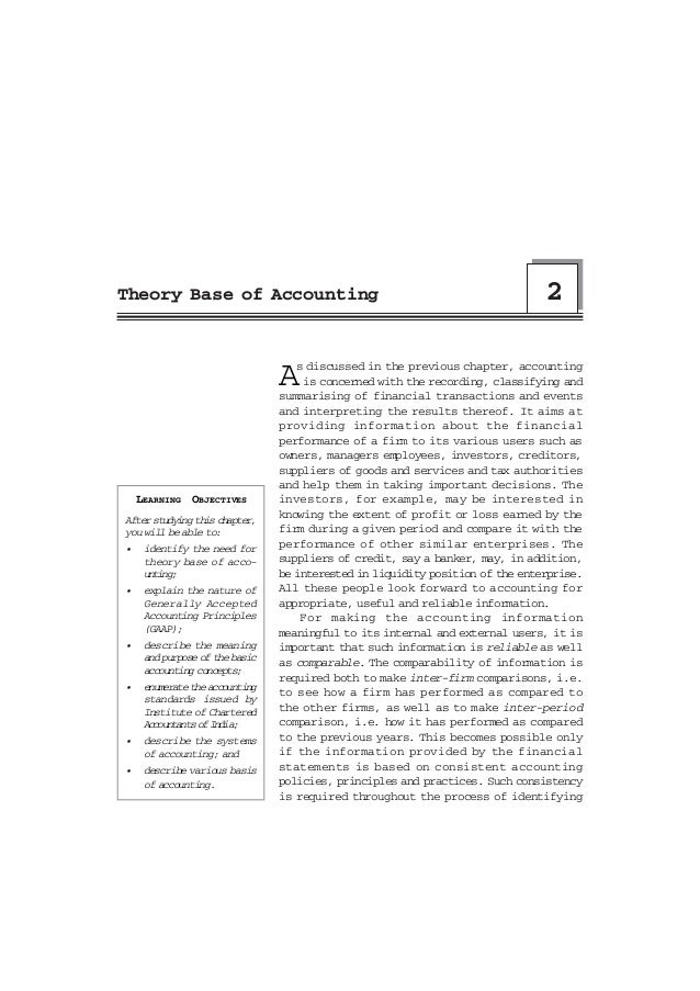Theory Base of Accounting                                                      2                                A  s discu...