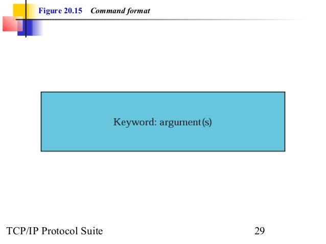 Figure 20.15 Command format  TCP/IP Protocol Suite 29