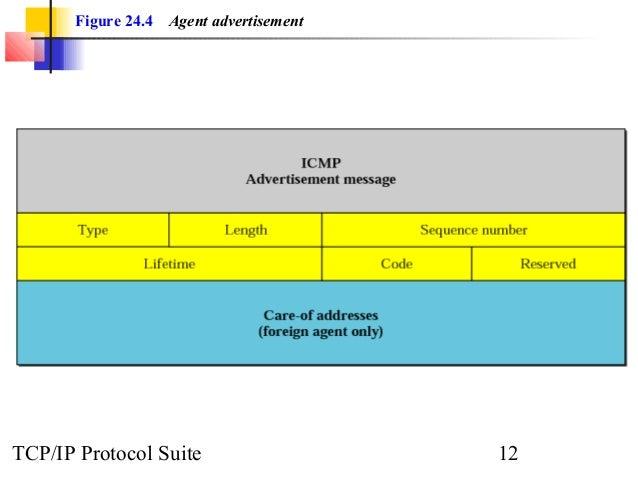 Figure 24.4 Agent advertisement  TCP/IP Protocol Suite 12