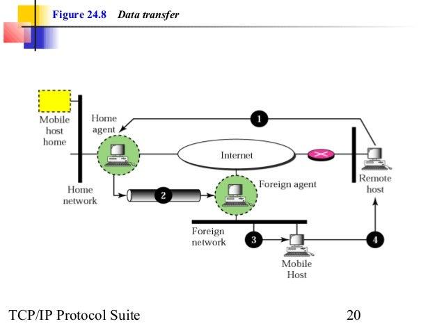 Figure 24.8 Data transfer  TCP/IP Protocol Suite 20