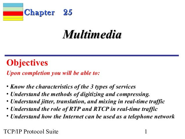 CChhaapptteerr 2255  MMuullttiimmeeddiiaa  Objectives  Upon completion you will be able to:  • Know the characteristics of...