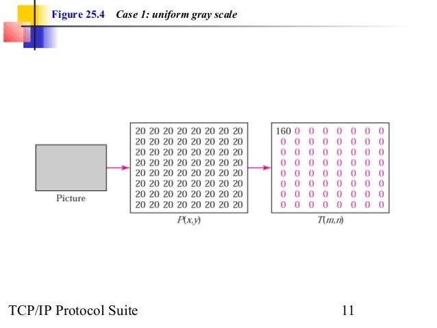 Figure 25.4 Case 1: uniform gray scale  TCP/IP Protocol Suite 11