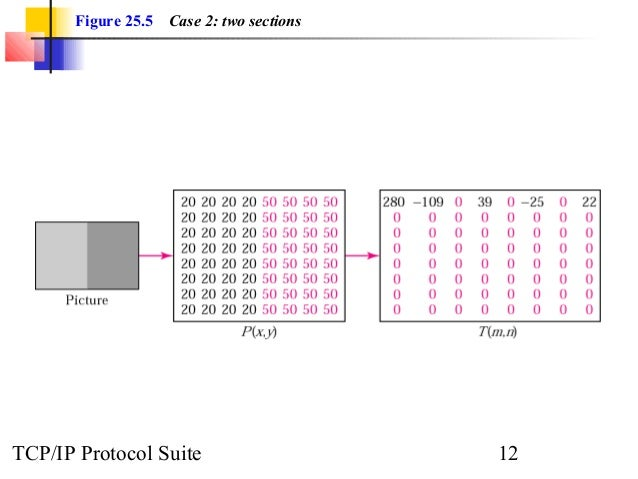 Figure 25.5 Case 2: two sections  TCP/IP Protocol Suite 12