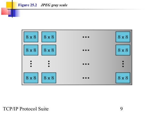 Figure 25.2 JPEG gray scale  TCP/IP Protocol Suite 9