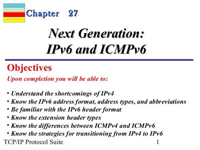CChhaapptteerr 2277  NNeexxtt GGeenneerraattiioonn::  IIPPvv66 aanndd IICCMMPPvv66  Objectives  Upon completion you will b...