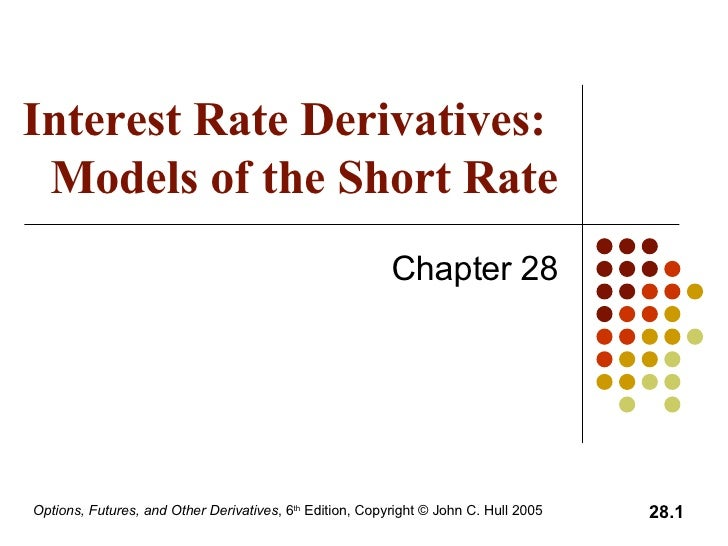 Interest Rate Derivatives:  Models of the Short Rate Chapter 28