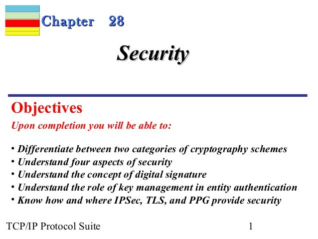 CChhaapptteerr 2288  SSeeccuurriittyy  Objectives  Upon completion you will be able to:  • Differentiate between two categ...