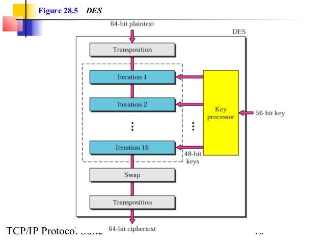 Figure 28.5 DES  TCP/IP Protocol Suite 10