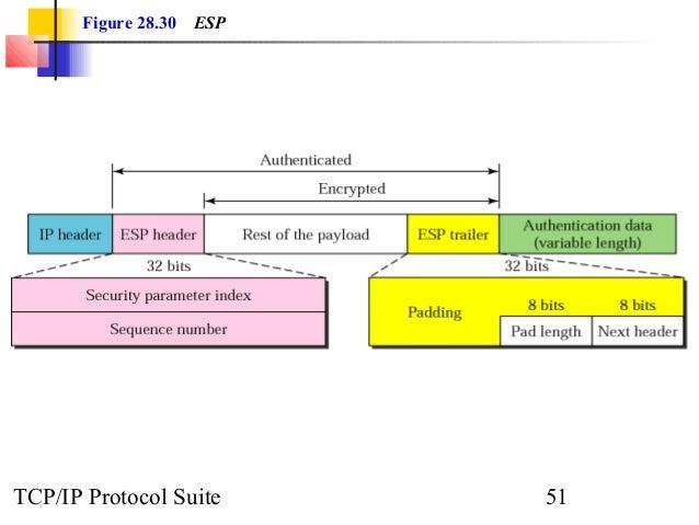 Figure 28.30 ESP  TCP/IP Protocol Suite 51