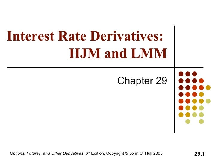 Interest Rate Derivatives:  HJM and LMM Chapter 29
