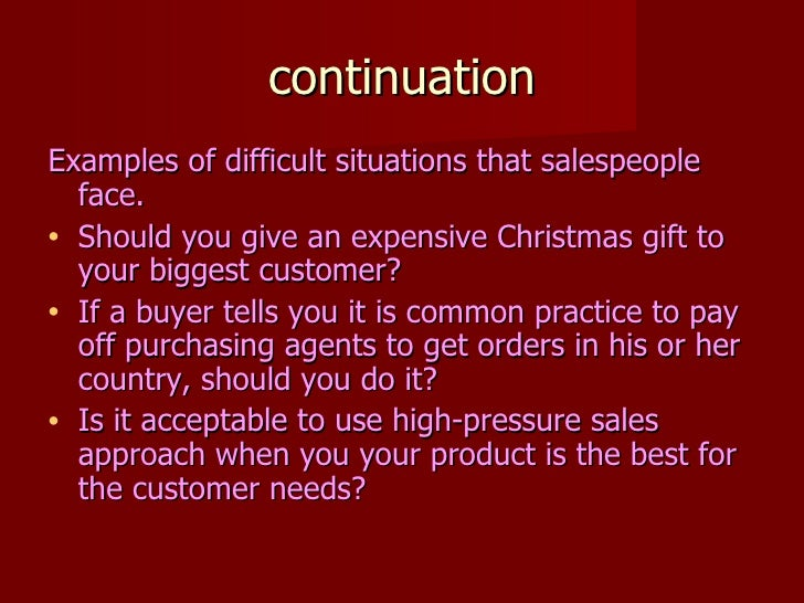 describe the ethical and legal issue in sales distribution.