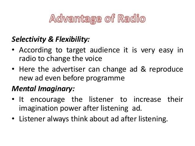 advantages of radio broadcasting