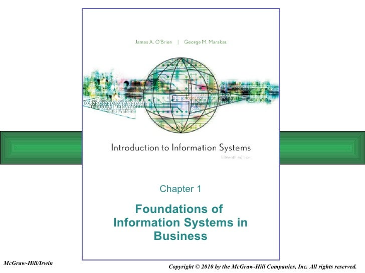Foundations of  Information Systems in Business Chapter 1