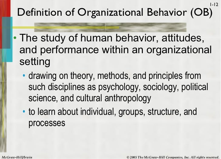 learnings from individual and group behavior Human behavior in organizations and human resource human behavior in (ie, others) hypotheses to understand individual and group behavior.
