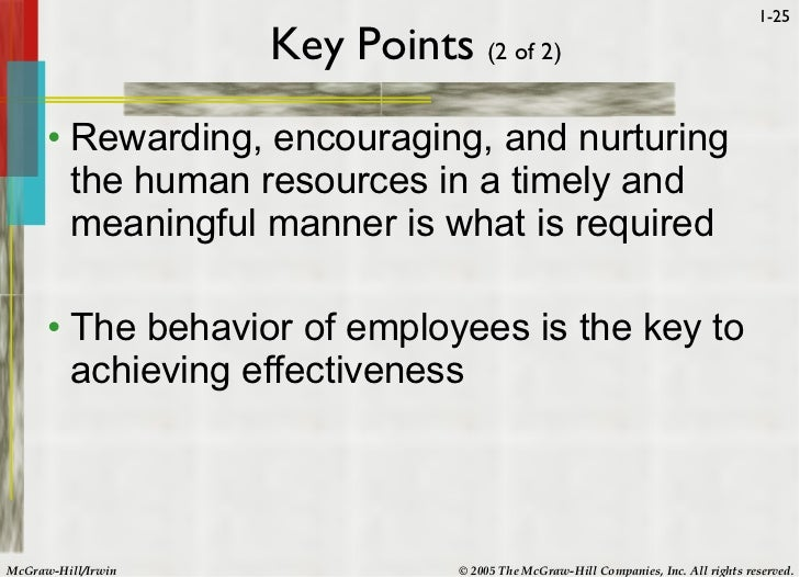 introduction to human behavior in organization 2011-02-27 chapter 1 introduction to organizational behavior  its chief goal is to apply that knowledge toward improving an organization's effectiveness  ob's goal is to understand and predict human behavior in organizations.