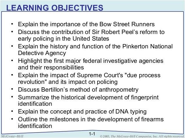 evolution of criminal investigation