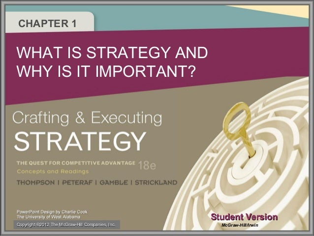 CHAPTER 1 WHAT IS STRATEGY AND WHY IS IT IMPORTANT? Student VersionStudent Version McGraw-Hill/IrwinCopyrightCopyright ®20...