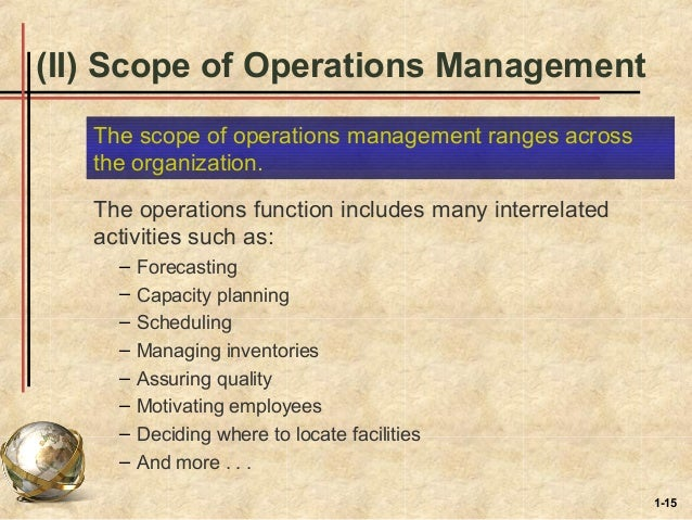 introduction to operation management Learn how to identify the operations systems in your workplace and use operations management tools and concepts to improve outcomes  introduction to operations.