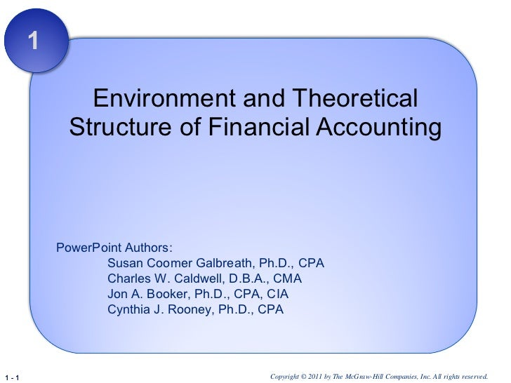 Environment and Theoretical Structure of Financial Accounting 1